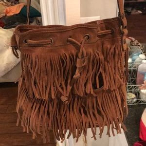 Patricia Nash genuine leather fringe crossbody